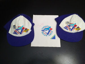 Two Blue Jay 1992 World Champion Caps