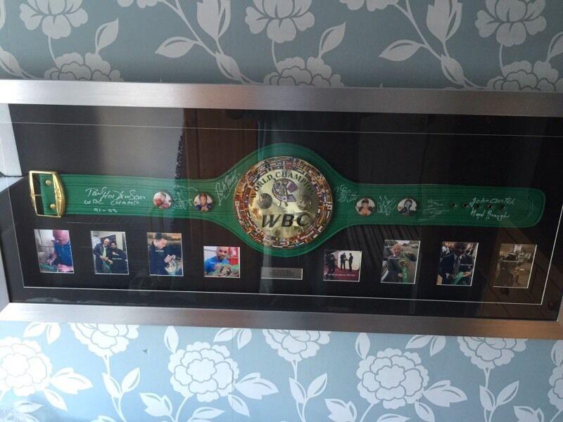 Signed Framed Wbc Boxing Belt In Northenden Manchester