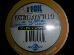 R foil White Poly Tape. Acrylic  Adhesive.
