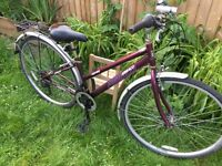 """Ladies 16"""" Ammaco hybrid bicycle. Inc new lights, rack & mudguards. Free delivery. D lock available"""