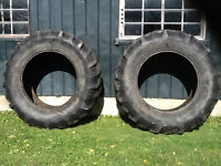 Two Used 18.4-34 Goodyear Farm Tractor Tires