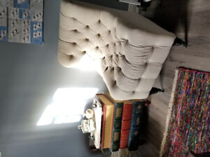 Button Tufted Slipper Chair from Bouclair...