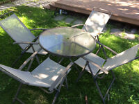 Patio table and chairs