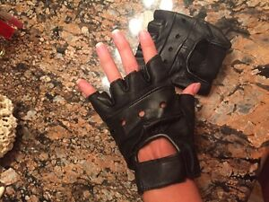 Bike Leather gloves, size S