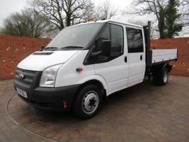 FORD TRANSIT 350 DOUBLECAB ONE WAY TIPPER LWB 125 BHP TOOL BOX ONE STOP 3 SEATS