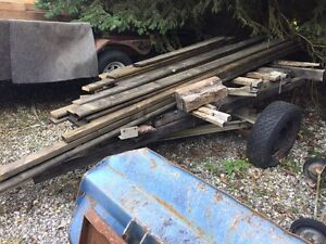 Trailer and lumber
