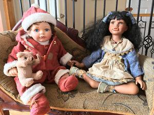 Collection de poupées de porcelaine