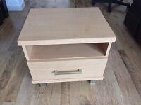 Bedside cabinet, drawer, shelf, bedside table. x2