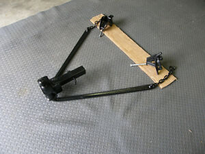 TRAILER HITCH WITH BALL,SWAY BARS AND BUCKLES.