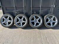"18"" Original Genuine Mercedes C-Class W205 Alloy Wheels & Tyres"