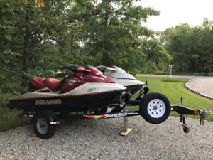 His and Her SeaDoo's