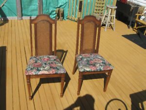 TWO LOVELY KITCHEN/DINING ROOM CHAIRS. From around the 50/60'