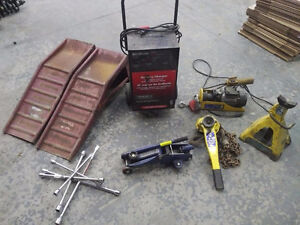 Battery Charger 2 Ton Chain Hoist Car Jack Ramps Electric Winch