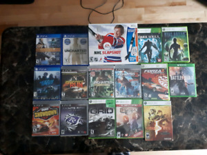 Xbox 360, Xbox one, Ps3, Ps4, and Wii games