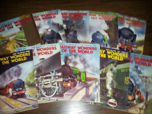 15 RAILWAY WONDERS OF THE WORLD magazines from 1935- obo