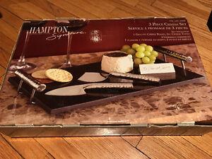 Granite cheese board & cheese tools [New]