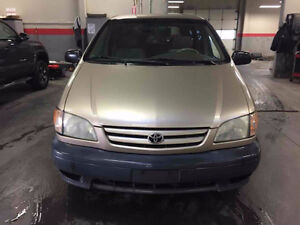2002 Toyota Sienna CE; Hwy mileage; CERTIFIED & E-TESTED