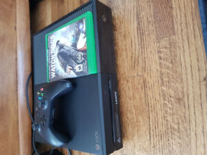 Xbox one with controller and copy of watchdogs