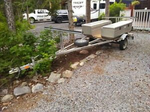Like New Aluminum Canoe Trailer -2 aluminum boxes light weight