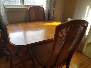 Solid Oak table (not veneer)and 4 chairs