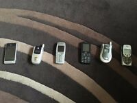 5 phones lg touch screen , Motorola flip, lg flip , Nokia virgin phone & about 15 chargers