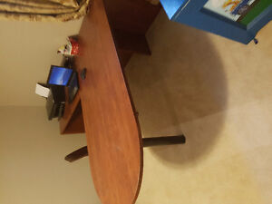 Cherry colour L Shape desk