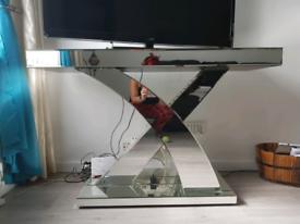 Mirror Table TV Unit Console