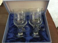 Irish coffee glasses from Ireland boxed as new