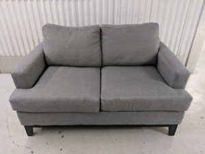 Grey  Linen-Look   Loveseat  from     THE   BRICK