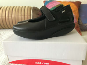 MBT Mary Jane shoes, black leather. Brand new - never worn.