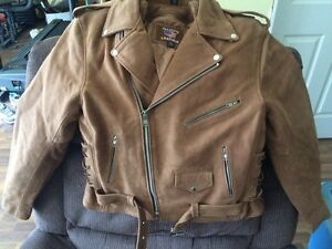Allstate Leather men's Buffalo leather motorcycle jacket