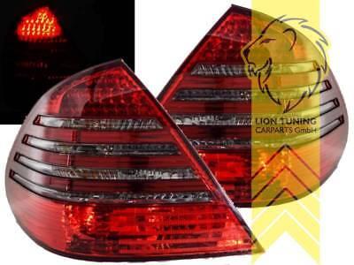 LED Rückleuchten Heckleuchten für Mercedes Benz W211 Limousine rot schwarz