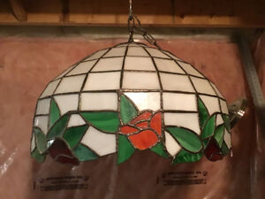 Hand made stained glass light fixture