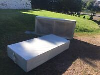 2 single bed bases