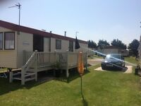 Caravan to rent Lyons Robin Hood site north wales Rhyl