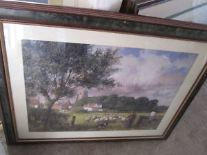 Framed Artwork Picture--Sheep Herders