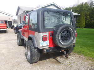 1990 jeep yj. 33 inch tires 3 inch suspension lift