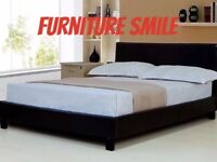 ** Leather Bed frame with brand new mattresses **SAME OR NEXT DAT DELIVERY