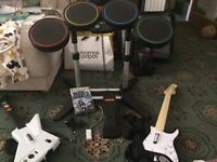 Rock Band 2, XBOX 360 with wired instruments
