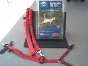 Come With Me Kitty™ Cat Harness & Bungee Leash, small (red)