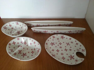 Condiment plates and serving tray