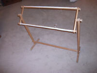 needlepoint frame with stand