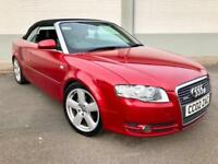 2007 Audi A4 Cabriolet 2.0TDI S Line *Full Leather - 50MPG - Excellent Example*