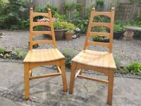 Two oak Dining Chairs.