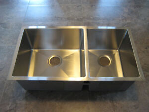 New Stainless Steel Double Kitchen Sink - 16 Gauge