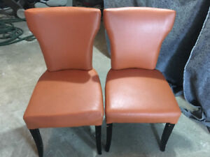 Contemporary wing back dining kitchen or decorative Chair 55 eac