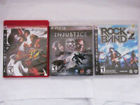 Playstation3 - Fighting / Music Games - $15 each