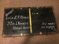 Vintage steamer trunk chest