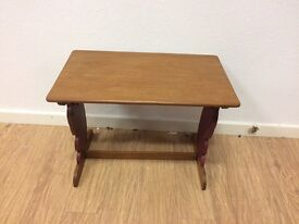 Vintage child's table with squirrel sides