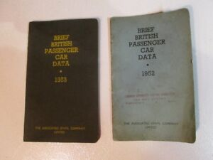 Catalogue Brief British passenger car data